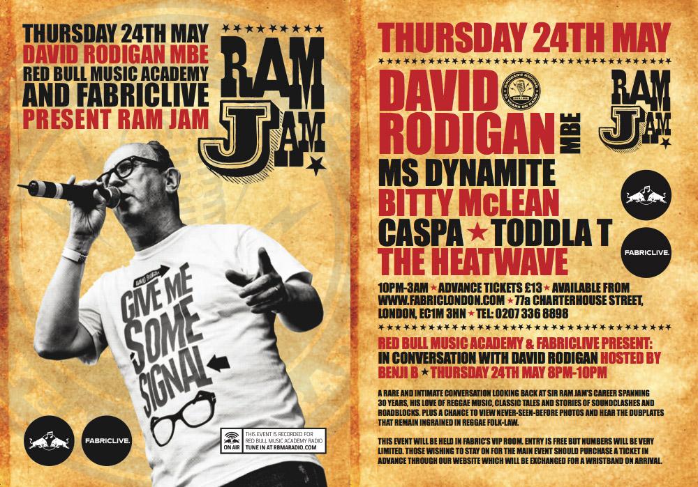 Ram Jam Events In London Bristol And Cambridge Rodigan