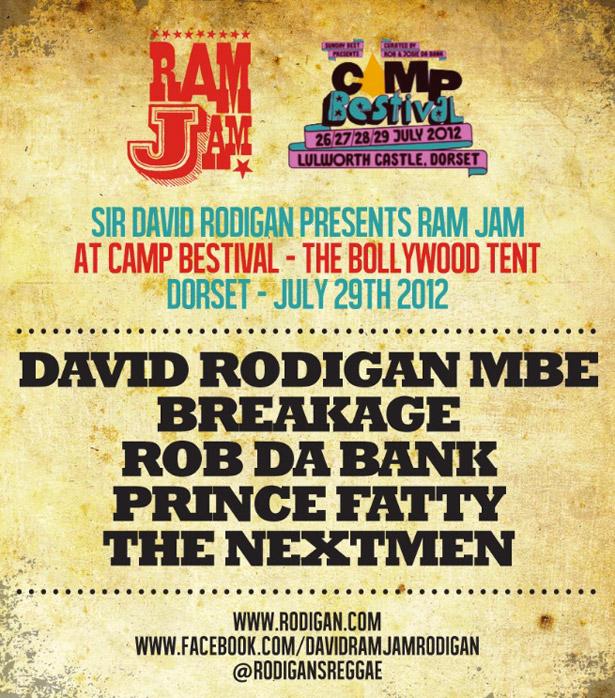 Next Ram Jam Event Camp Bestival Dorset Sun 29th July