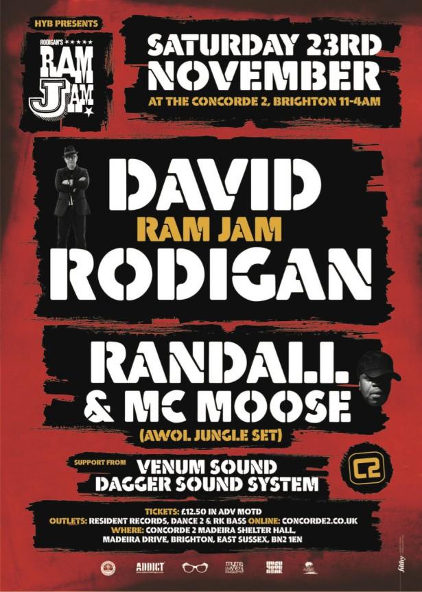 Ram Jam Brighton Saturday 23 November Rodigan S Reggae